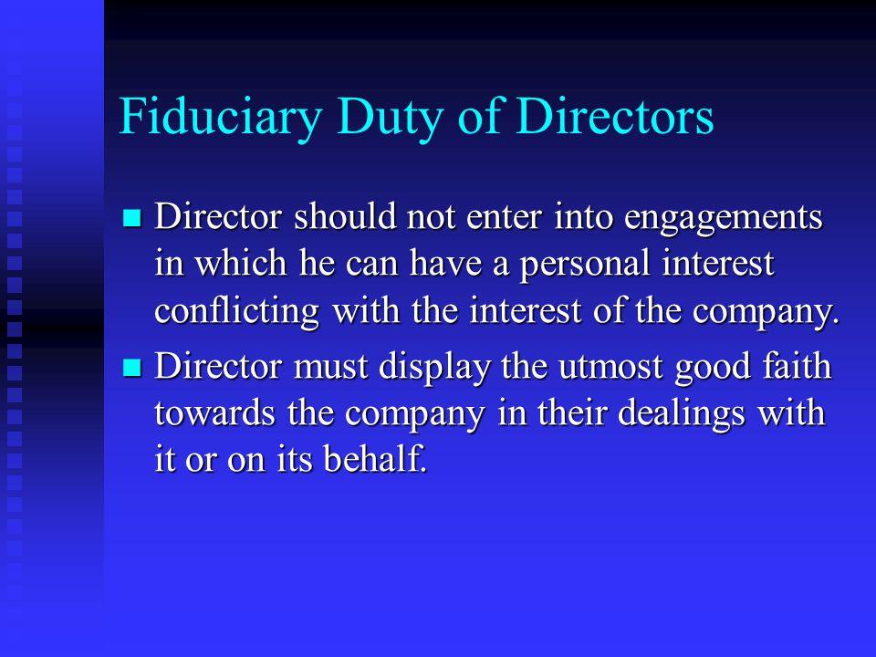 Fiduciary Duty of Directors