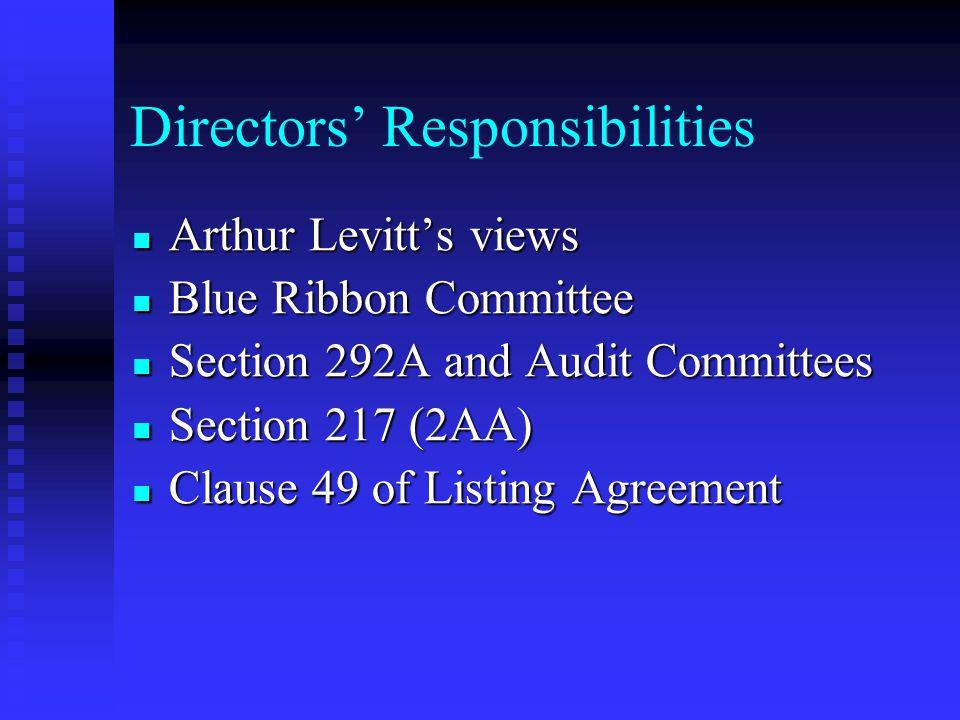 Directors' Responsibilities