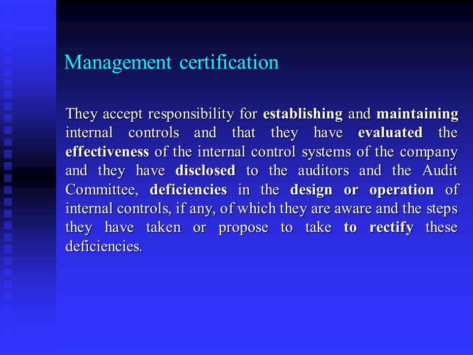 Management certification