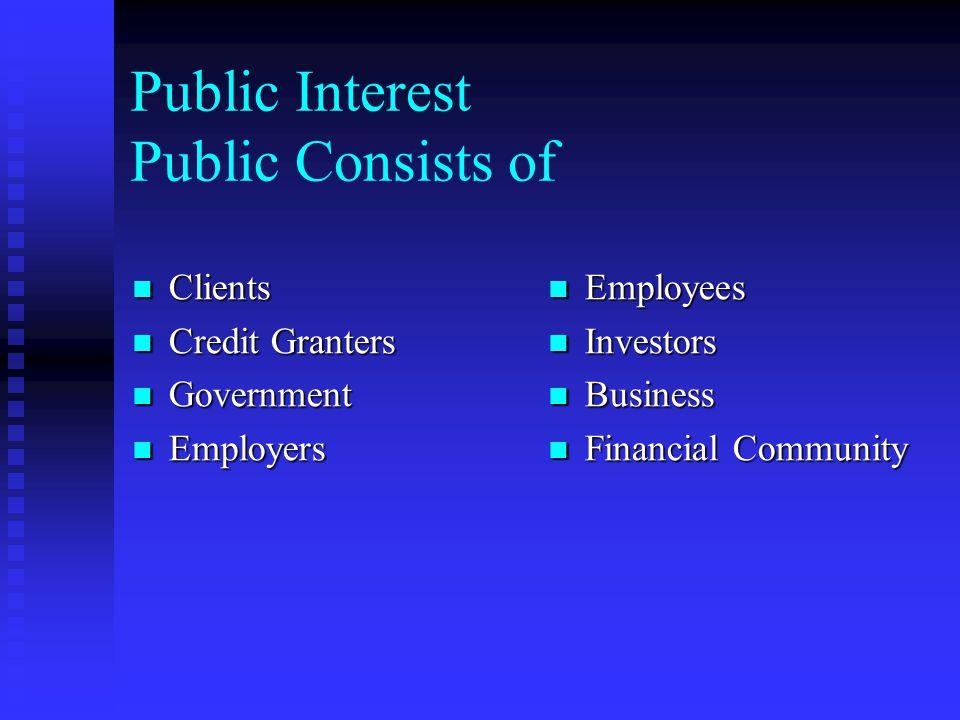 Public Interest Public Consists of