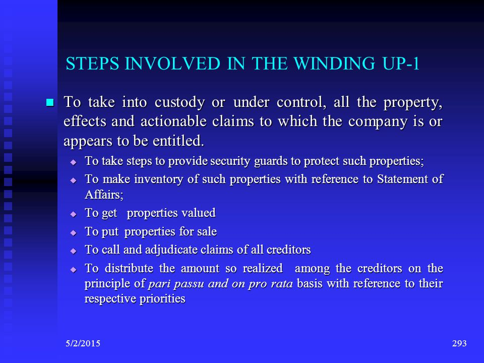 STEPS INVOLVED IN THE WINDING UP-1