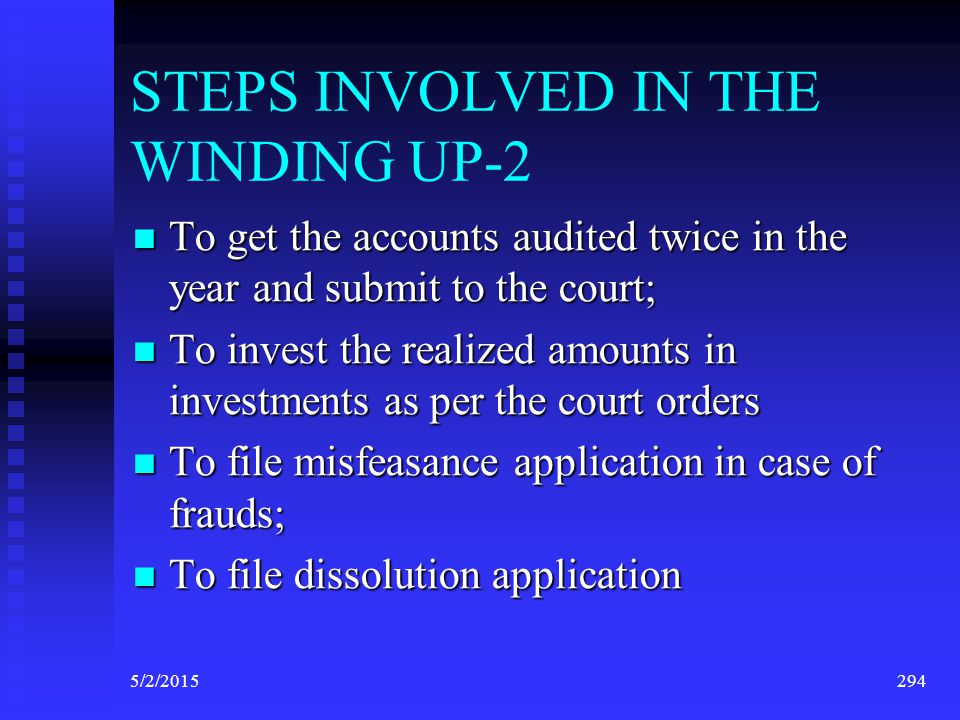 STEPS INVOLVED IN THE WINDING UP-2