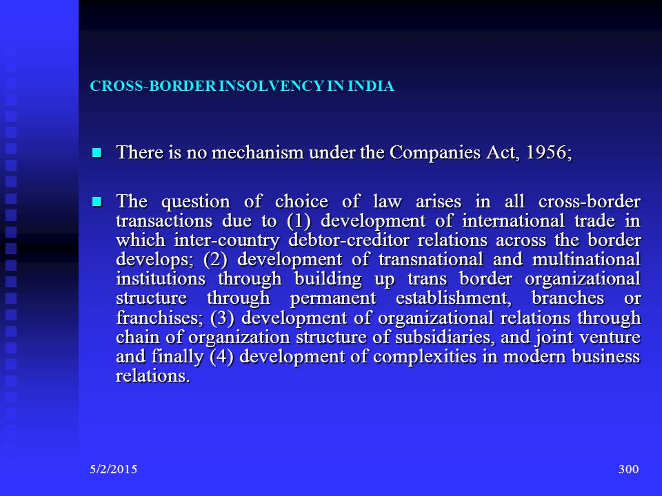 CROSS-BORDER INSOLVENCY IN INDIA