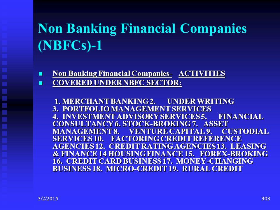 Non Banking Financial Companies (NBFCs)-1