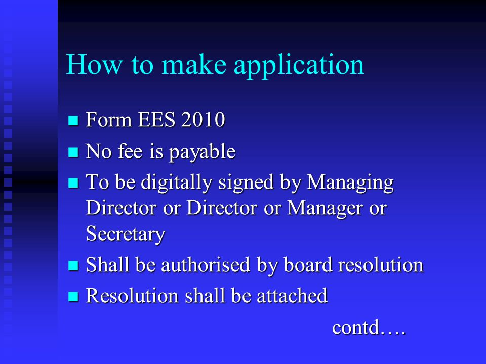 How to make application