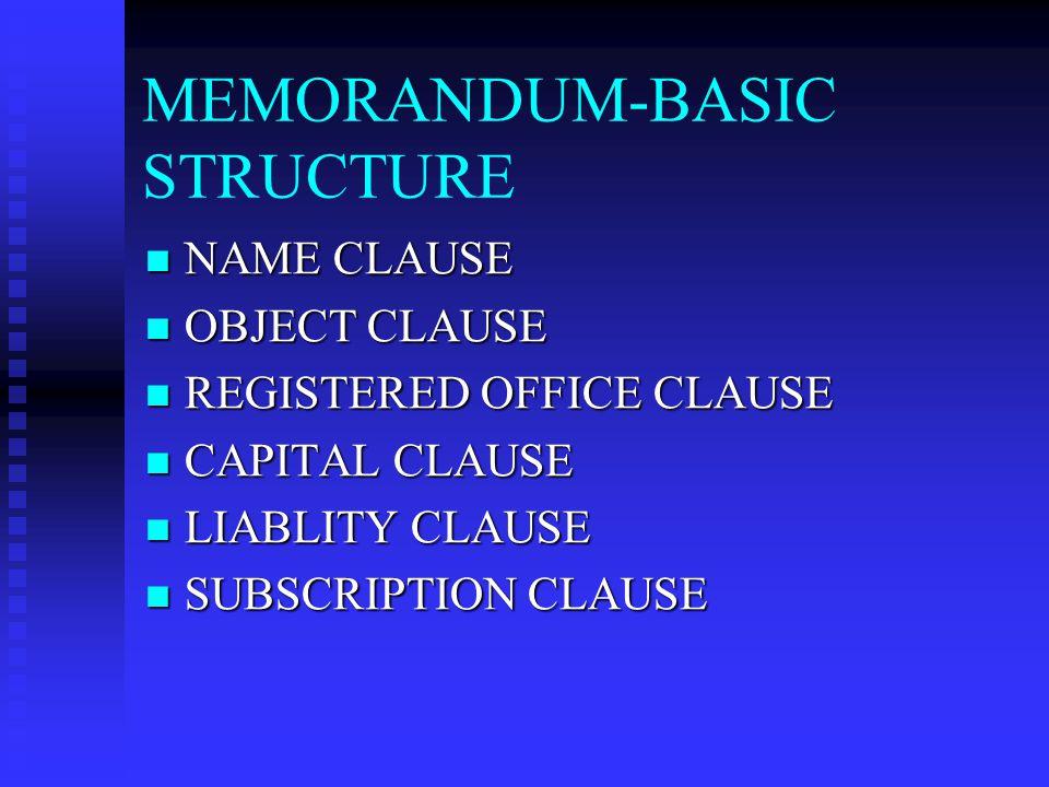 MEMORANDUM-BASIC STRUCTURE