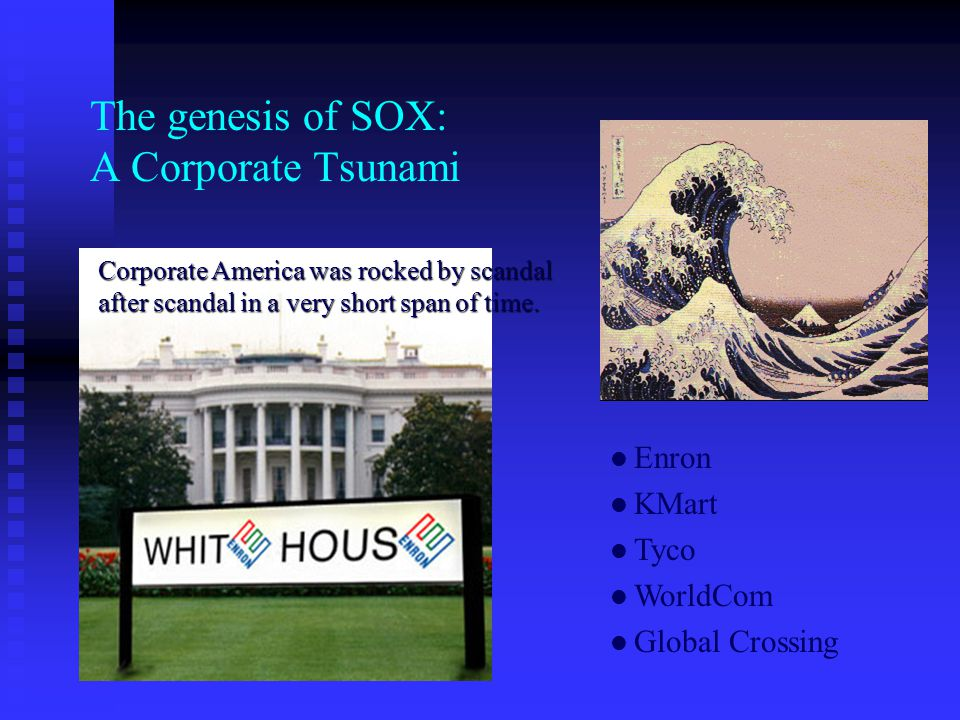 The genesis of SOX: A Corporate Tsunami