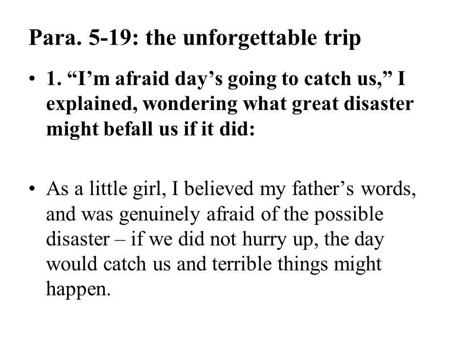Para. 5-19: the unforgettable trip