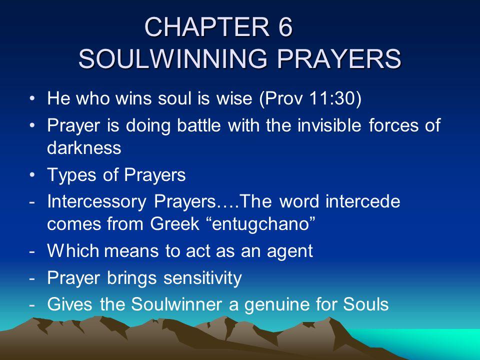 CHAPTER 6 SOULWINNING PRAYERS