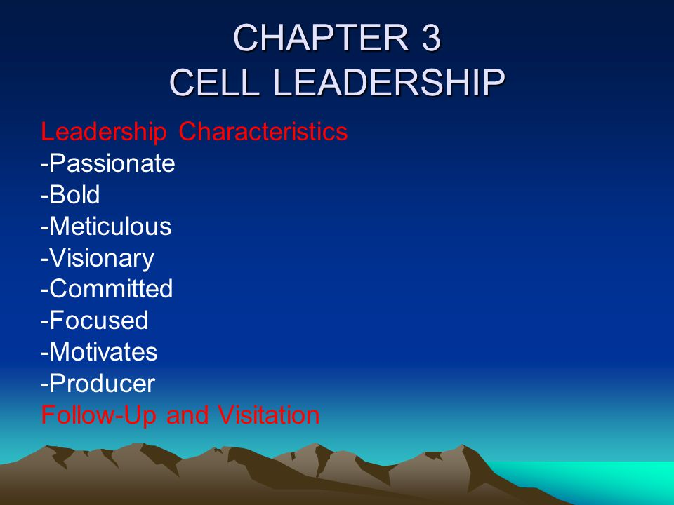 CHAPTER 3 CELL LEADERSHIP