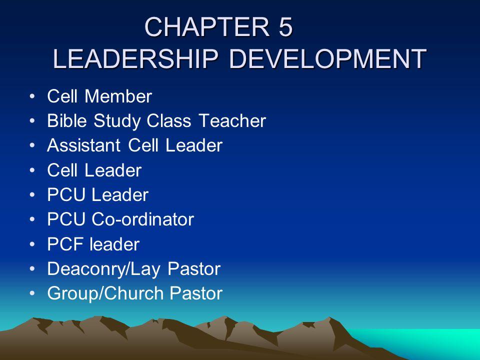 CHAPTER 5 LEADERSHIP DEVELOPMENT