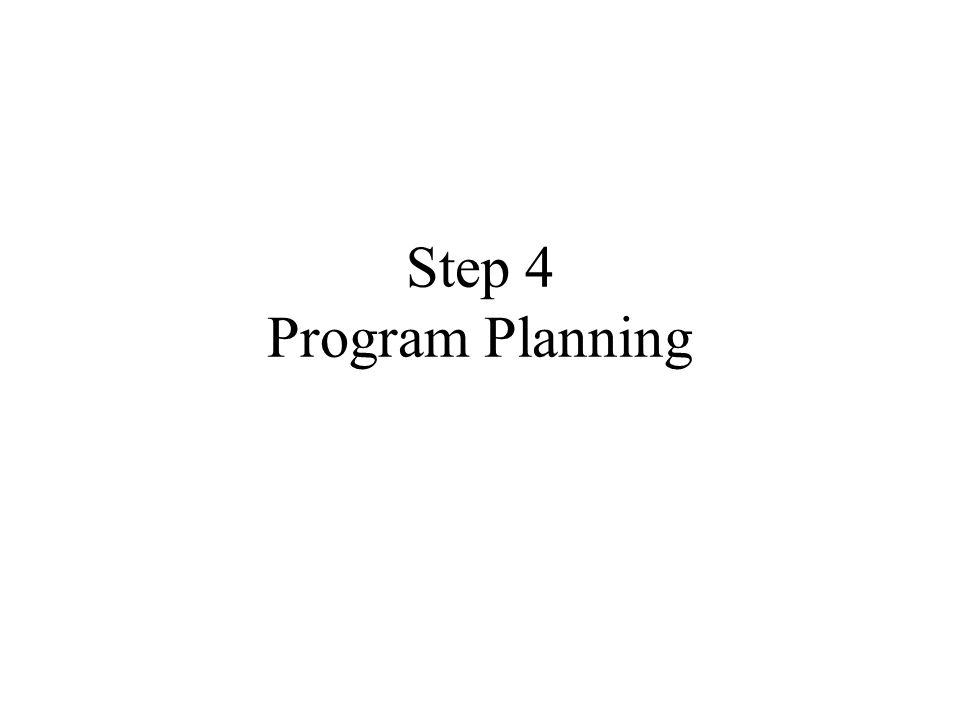 Step 4 Program Planning