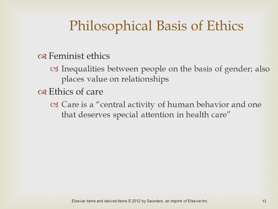 Philosophical Basis of Ethics