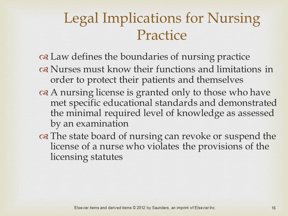Legal Implications for Nursing Practice