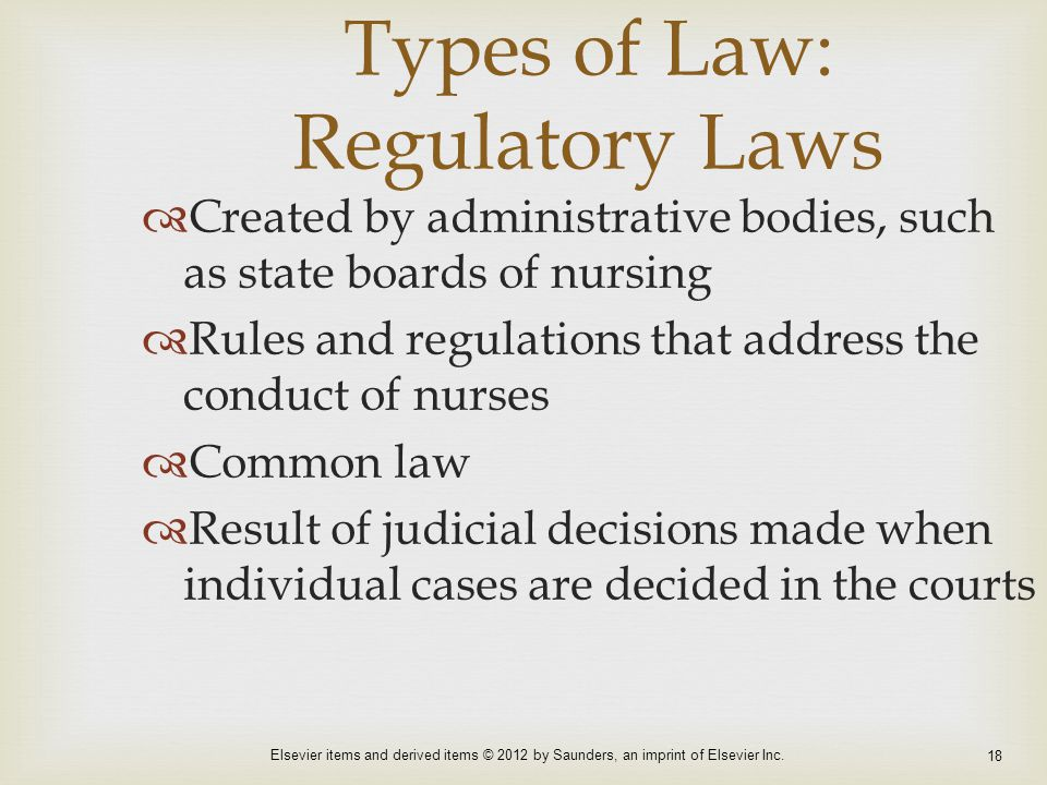 Types of Law: Regulatory Laws