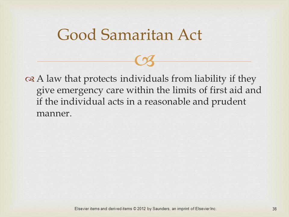 Good Samaritan Act