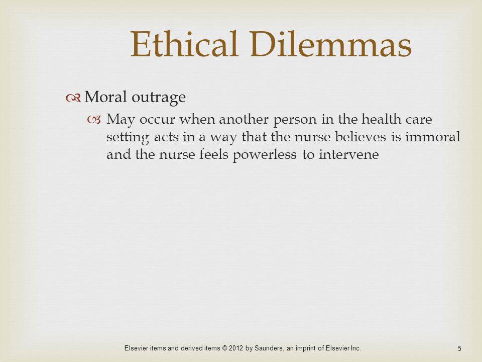 Ethical Dilemmas Moral outrage