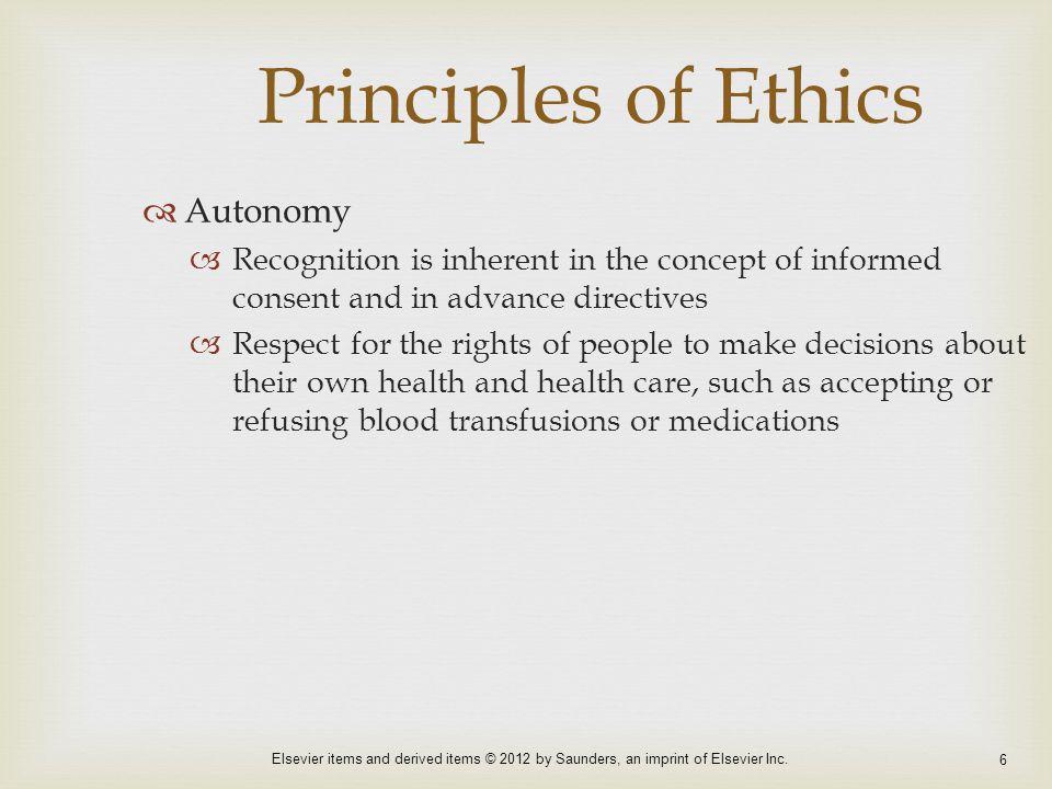 Principles of Ethics Autonomy