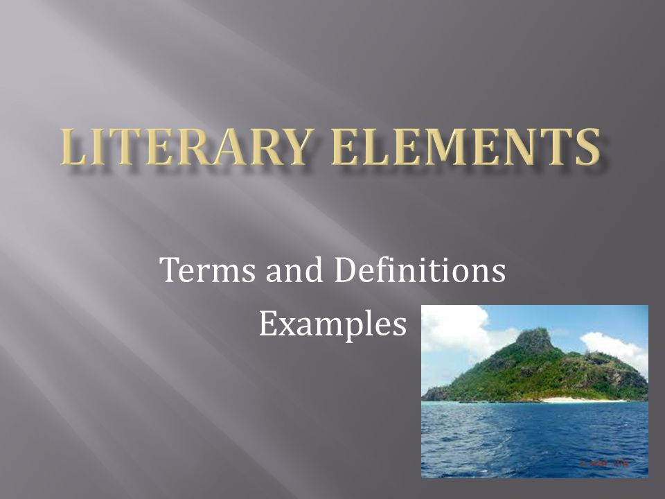 Terms and Definitions Examples