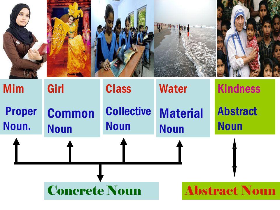 Common Noun Material Noun Mim Proper Noun. Girl Class Collective Noun