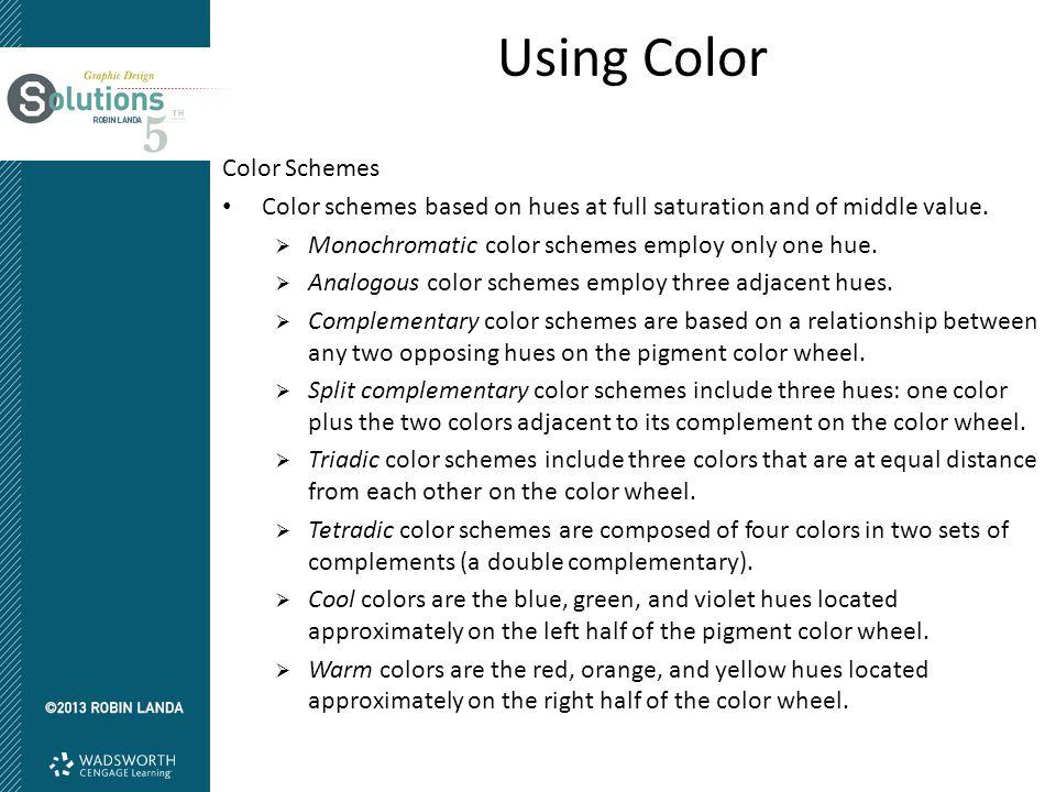 Using Color Color Schemes