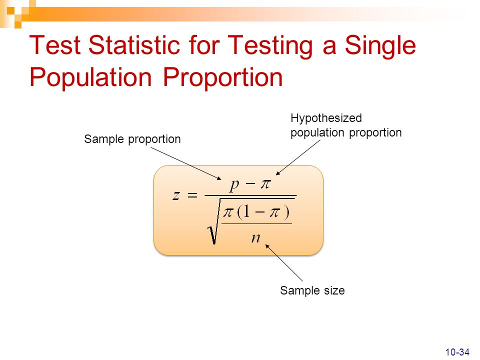 Test Statistic for Testing a Single Population Proportion