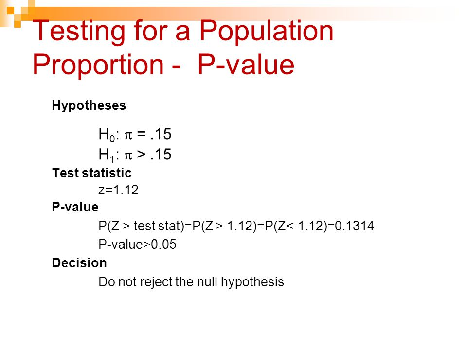 Testing for a Population Proportion - P-value