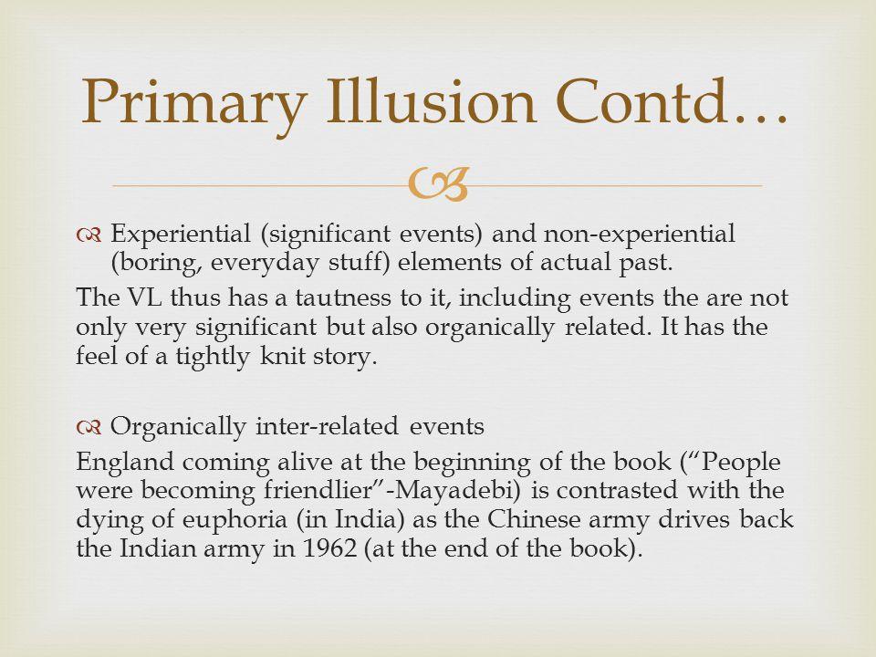 Primary Illusion Contd…