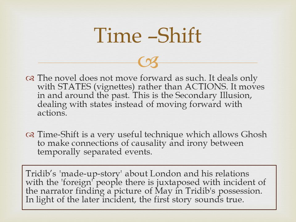 Time –Shift