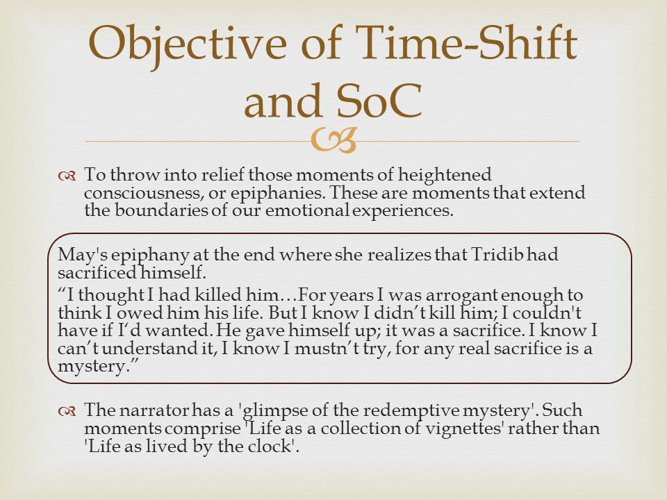 Objective of Time-Shift and SoC
