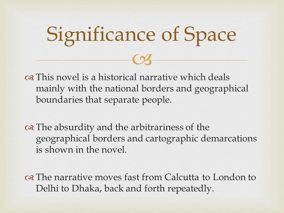 Significance of Space