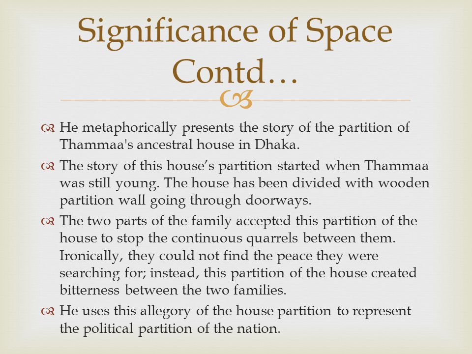 Significance of Space Contd…