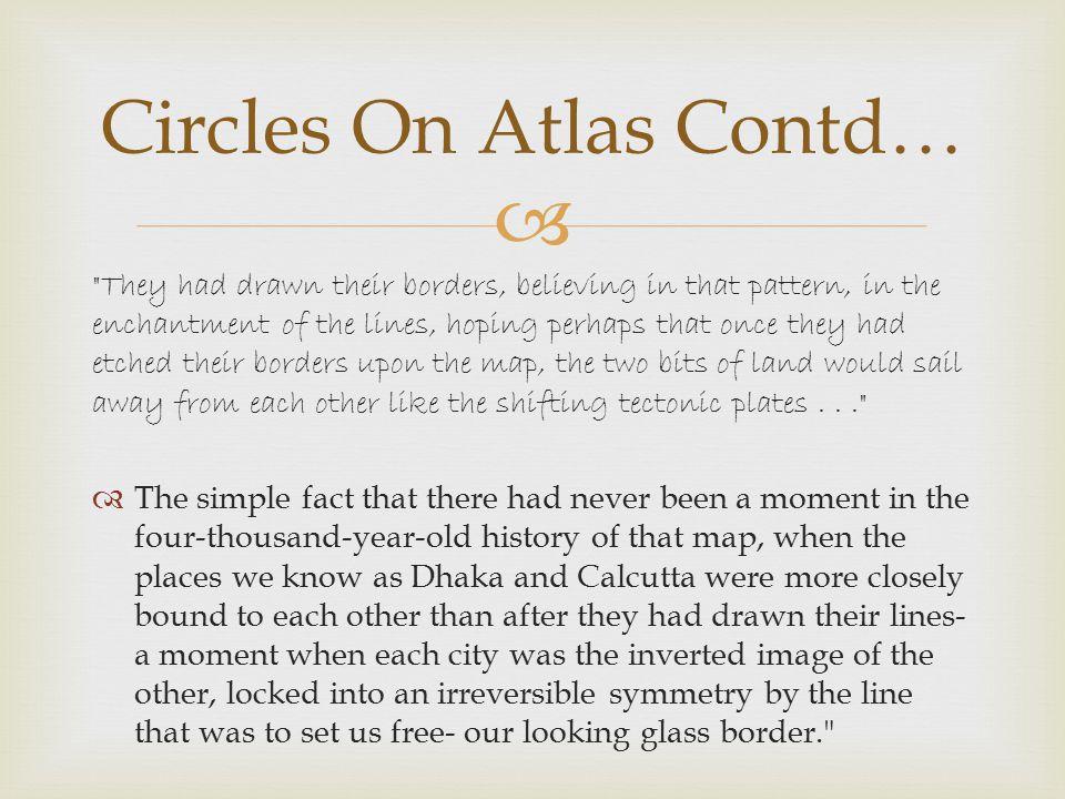 Circles On Atlas Contd…