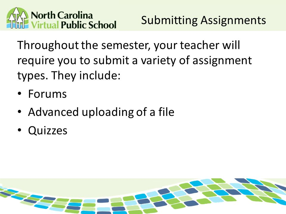 Submitting Assignments