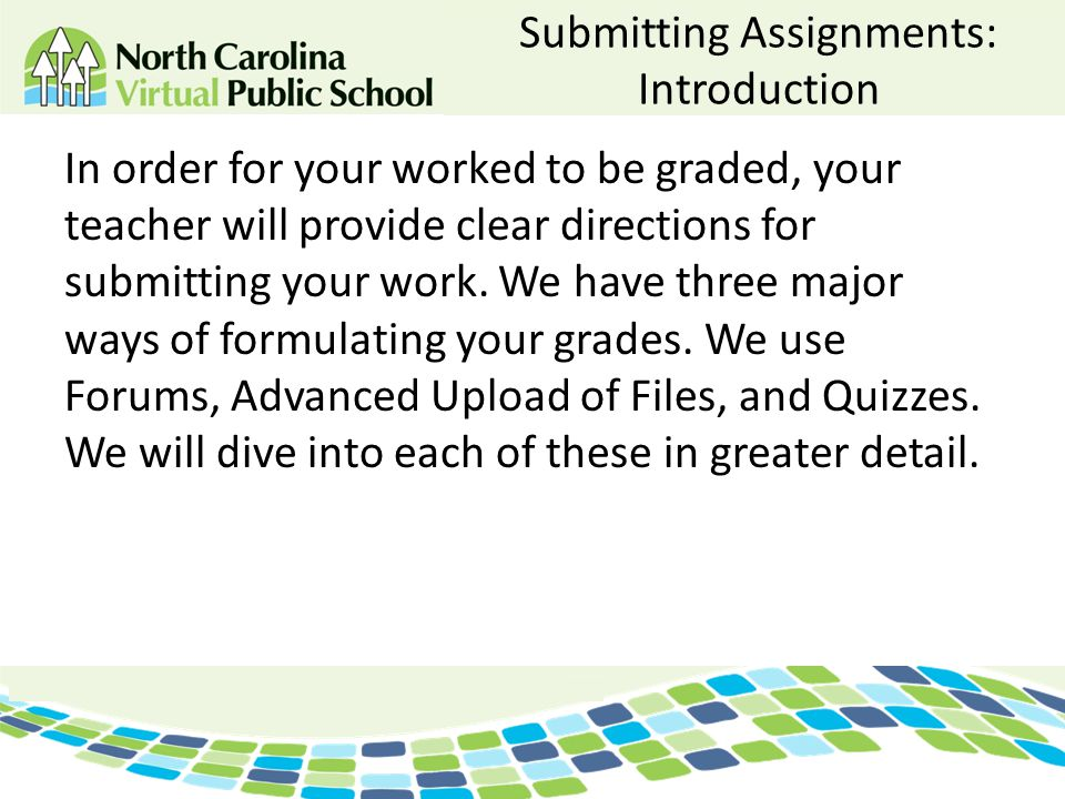 Submitting Assignments: Introduction