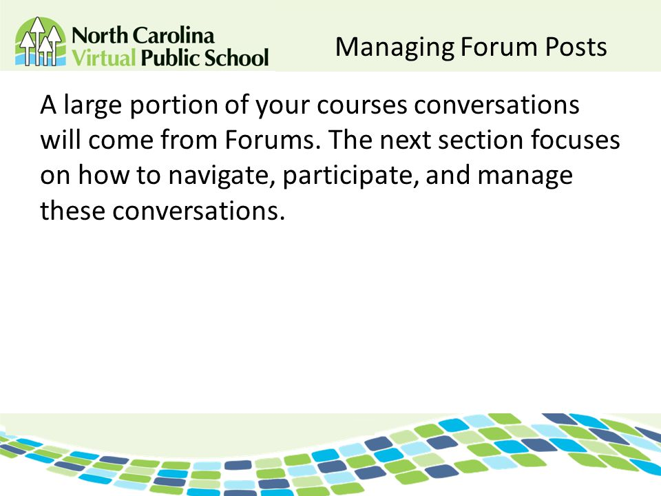 Managing Forum Posts