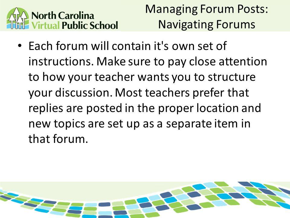 Managing Forum Posts: Navigating Forums