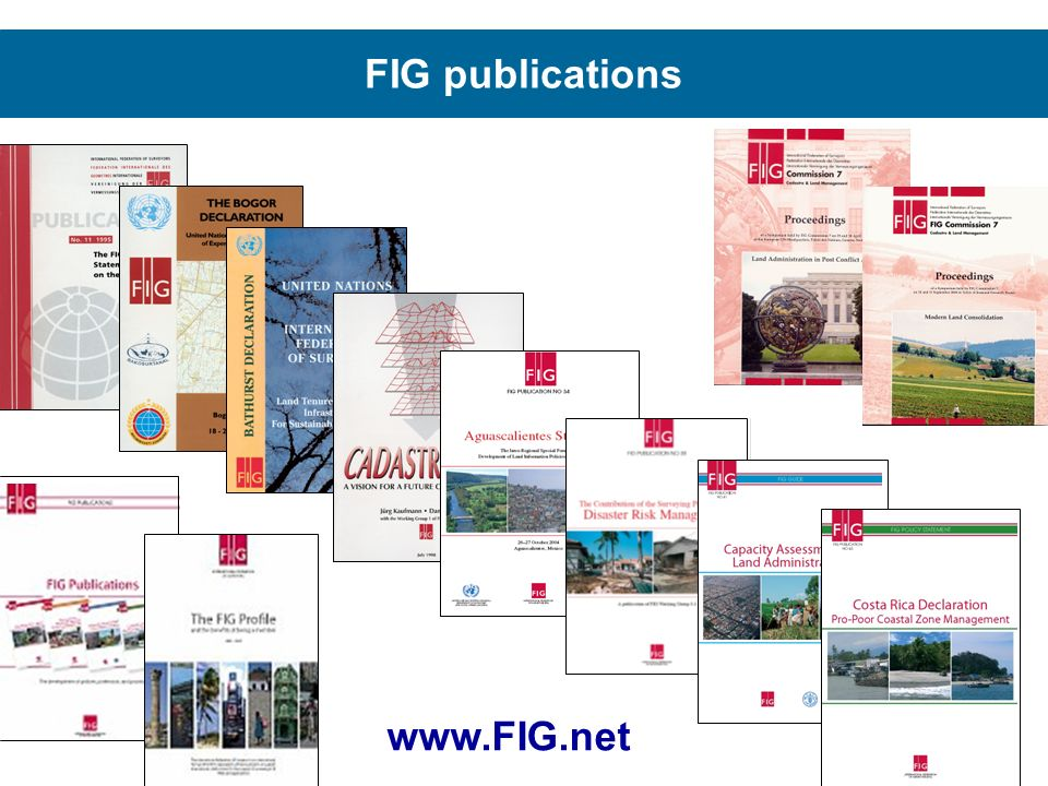 FIG publications www.FIG.net