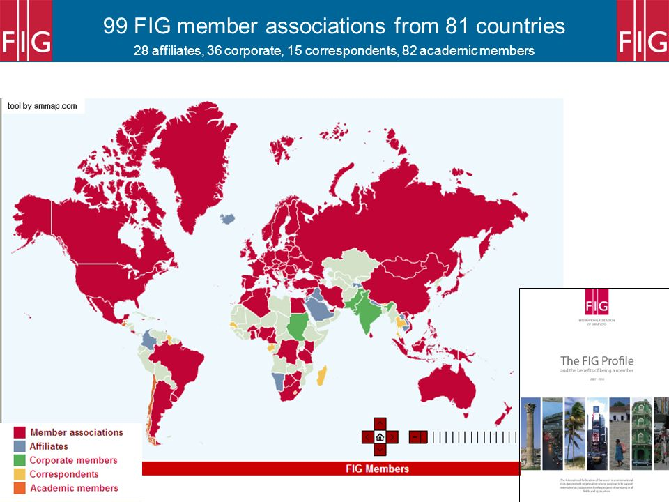 99 FIG member associations from 81 countries