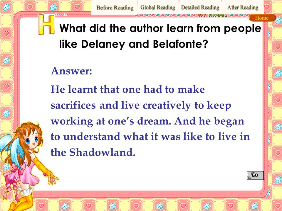 What did the author learn from people like Delaney and Belafonte