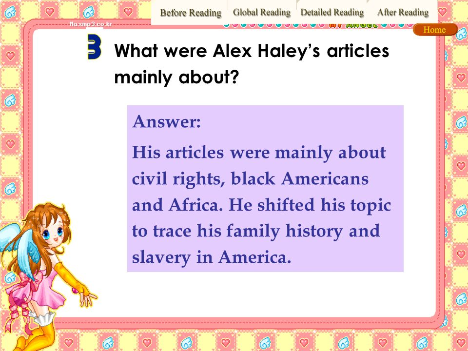 What were Alex Haley's articles mainly about