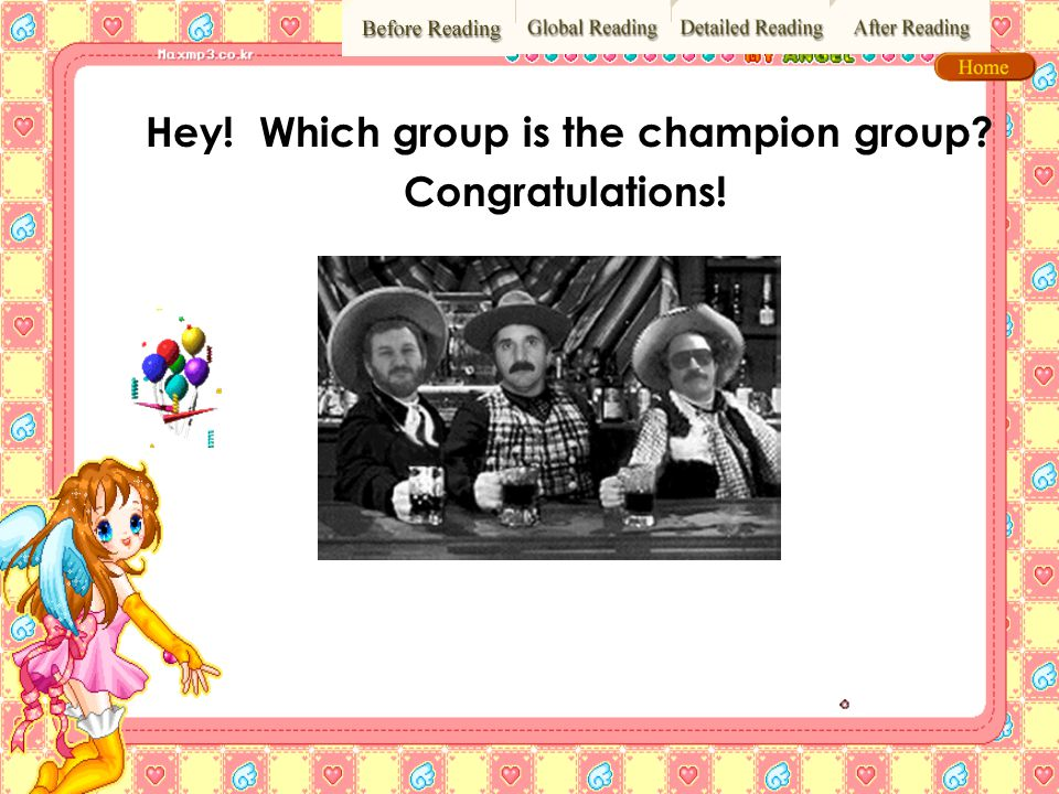 Hey! Which group is the champion group Congratulations!