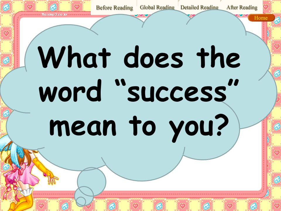 What does the word success mean to you
