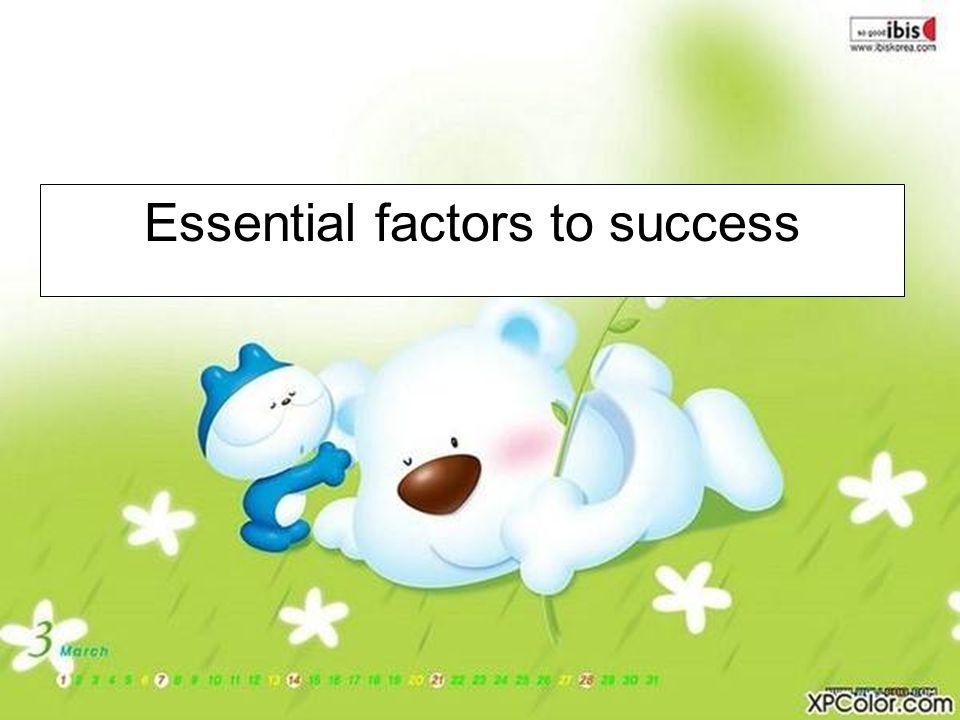 Essential factors to success
