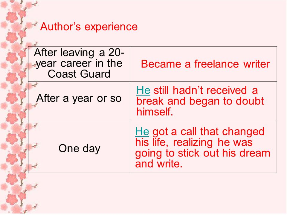 After leaving a 20-year career in the Coast Guard