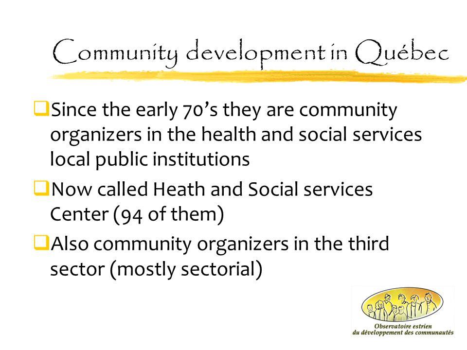 Community development in Québec