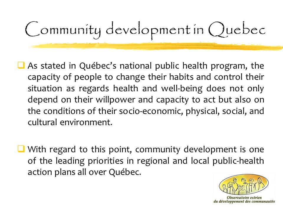 Community development in Quebec