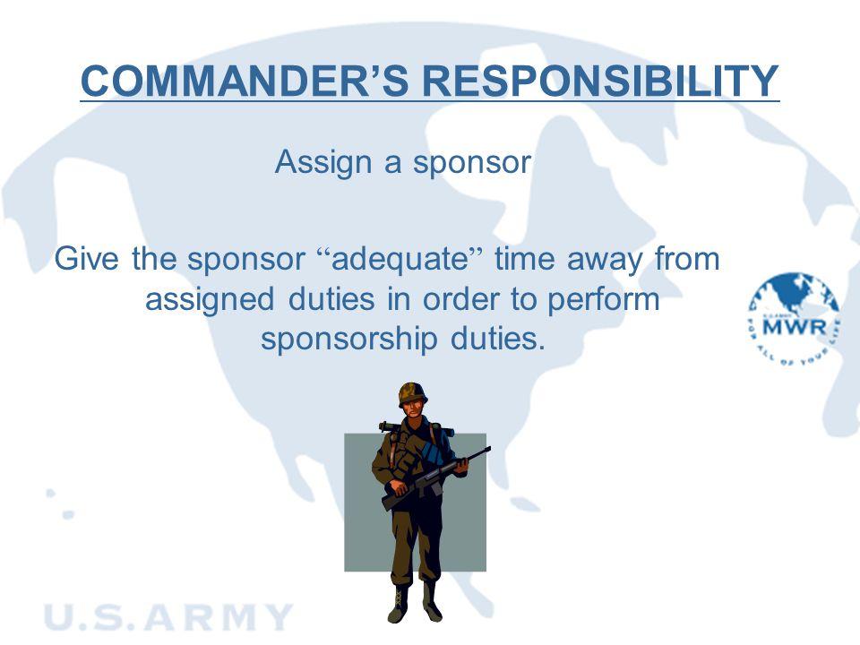COMMANDER'S RESPONSIBILITY