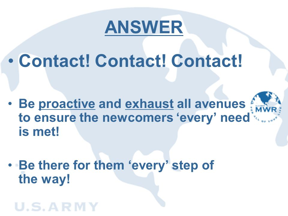 Contact! Contact! Contact!