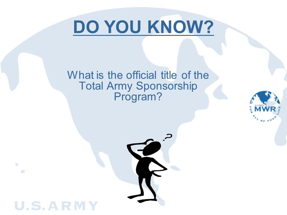 What is the official title of the Total Army Sponsorship Program